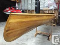 Beautiful hand made wooden canoe built in the Cowichan