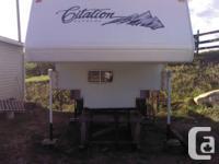 2001 Citation Supreme, slide in camper. one owner, well