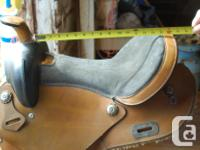 15 inch all purpose saddle. All leather. Rough out