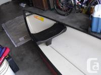 15' fibreglass canoe in excellent condition, cooler in