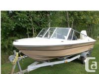 15 foot Doral boat, 55 HP Johnson motor, 6 HP Evinrude