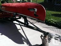 We are selling our strong, durable, fiberglass Canoe
