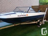 Beautiful 15 ft fiberglass powerboat, 1975 Sun Ray