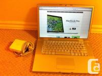15 inch MacBook Pro 2.2ghz intel core 2 duo with 2 gig