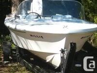15' Sangstercraft with 70 HP Johnson Outboard and