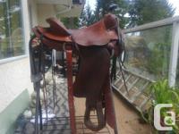 "Nice Simco Western saddle Seat 15"" Gullet 5.5"" Semi"