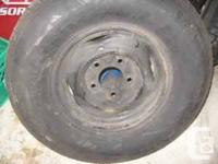 1 Steel Belted Radial tire on 5 Hole Rim for Pick-up