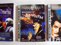 15 Vintage Movie Classics Mayhem, Terror, Thrillers,