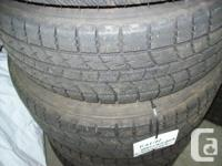 I have a set of 4 winter tires and rims for sale. They
