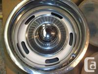 15x8 Corvette rally Rims with rings and caps $250.