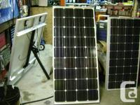 New 150W mono solar panel with controller, cables,