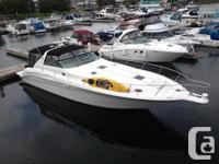 The Sea Ray 450 Sundancer is custom designed and built