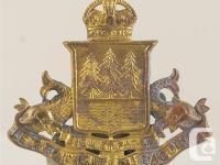 CANADA WWII: LE REGIMENT DU SAGUENAY CAP BADGE -MAZ M37