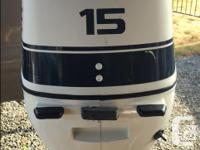 15hp Four Stroke Evinrude (Johnson) outboard. Motor
