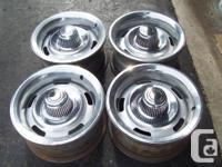 15 x 7 Corvette style rally rims with rings and cap
