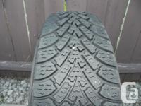 """For sale 4 16"""" GOODYEAR NORDIC winter tires on steel"""