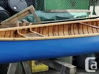 16' Huron Canoe Restored canvas on wood canoe. This