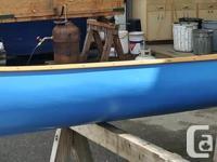 16' Huron Canoe Restored canvas on wood canoe. This