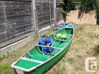 I have a 16' fiberglass canoe aluminum frame can attach
