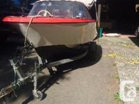 Hourston glascraft run about with 88 Evinrude goes