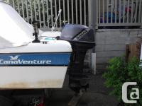 16' licensed with transport Canada fibreglass boat,