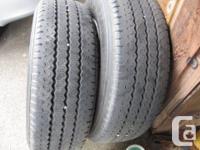 two 16.5 8ply 9.50 x16.5 Bridgestone tires on 16.5