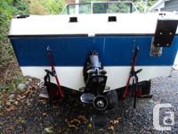 16. 5 Foot, 1974 Silverline fiberglass boat. 4 cylinder