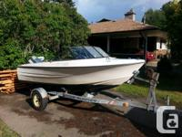 Suitable disorder 16.5' K&C Thermoglass Runabout with