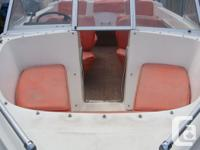 1985 Open bow, seats 10, orange vinyl seats, no leaks,