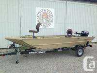 2016 Crestliner 1756 Retriever Jon Deluxe Powered by a