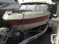 16.5 ft. Canaventure hardtop 1985 4 cyl mer cruiser and