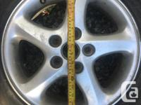 """16"""" Aluminum rims 5 lug 4.5 inch or 114.3mm with tyres"""