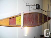I am selling my dad's 16' Fiberglass Canoe in red with