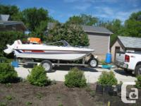 boat comes with trailer, t60 hp COMES WITH 60 HP