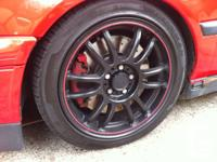 """Selling the 16"""" Black with red striped FRD 253 wheels"""