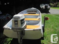 16ft. fiberglass boat motor 25 hp.....and trailer, has