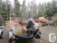 16 ft double eagle power boat,1992 roadrunner trailer,