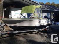 1988 16 ft Double Eagle fiberglass boat. Includes 1999