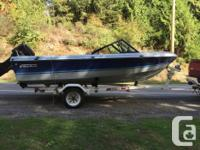 16 foot boat in good shape bow rider too with good