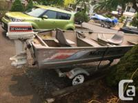 16 ft aluminum misty river ( deep & wide) with a 35 hp