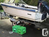 16' Glassply Runabout 85HP Yamaha 2 Stroke Dual Fuel