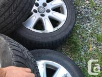 5x112 rims and tires off a 2006 VW Passat but they have
