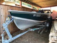 2002 Lund Aluminum Boat in excellent condition; 30