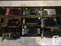 We have some miscellaneous used video cards for sale!