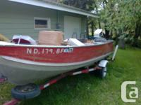 Great broad and deep 16' Northwood Boat Model 1612