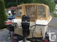 16' boat full canopy with galvanized ez load trailer