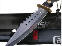 "NEW MTech Bushmaster Bowie. 16"" general. 10 1/8"" black"