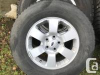 "Set of four Nokian 16"" winter tires on Ford rims (from"