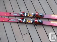 "160cm Salomon ""Scream 8 Pilot W"" skis for sale. These"