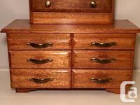 vintage Hand made miniature seven drawer dresser I just